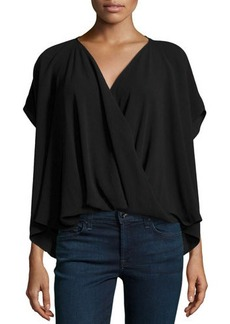 Natori Draped Wrap Blouse