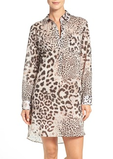 Natori 'Exotic Animal' Cotton Sleep Shirt