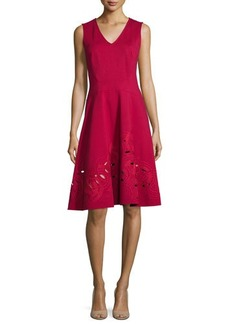 Natori Jewel-Neck Sleeveless Shift Dress