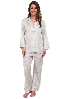 Natori Leopard Long Sleeve Notch PJ