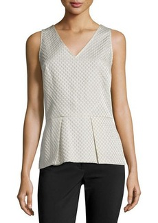 Natori Matelasse Sleeveless Peplum Top