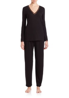 Natori Ribbed-Knit Pajamas