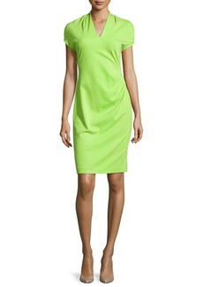 Natori Shira Short-Sleeve Shift Dress