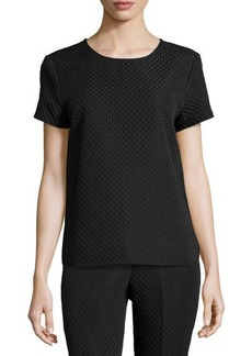 Natori Short-Sleeve Textured Top