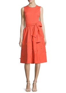 Natori Sleeveless Embroidered Dress