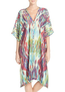 Natori 'Waterfall' Satin Caftan