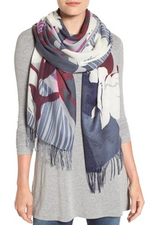 Nordstrom Floral Cashmere & Wool Scarf