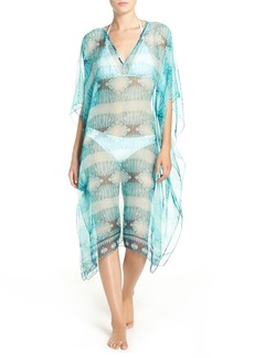 Nordstrom Geometric Batik Print Cover-Up Caftan