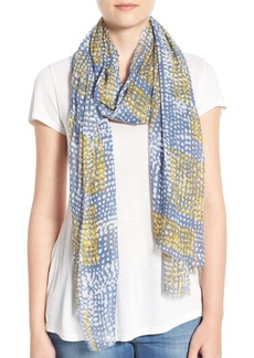 Nordstrom 'Painterly Dot' Modal & Silk Scarf