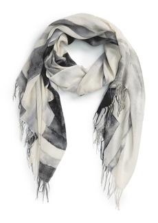 Nordstrom Sandwashed Tissue Weight Wool & Cashmere Twill Scarf