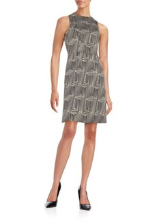 Shoshanna Abstract-Print A-Line Dress
