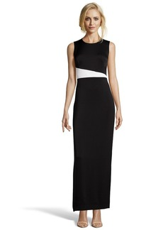 Shoshanna black and white crepe color bloc...