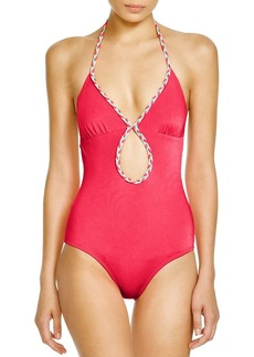 Shoshanna Braided One Piece Swimsuit