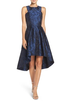 Shoshanna 'Coraline' Jacquard High/Low Fit & Flare Dress