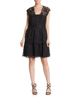 Shoshanna Lace Tiered Dress