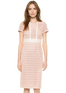 Shoshanna Macrame Eyelet Dress