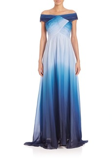 Shoshanna MIDNIGHT Ombre Silk Gown