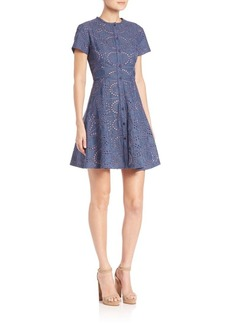 Shoshanna Mika Eyelet Fit & Flare Dress