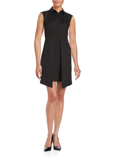 SHOSHANNA Point Collar Sleeveless Dress
