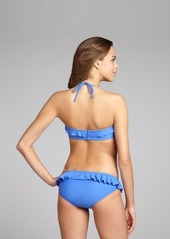 Shoshanna royal blue ruffle trimmed hipster bikini bottom