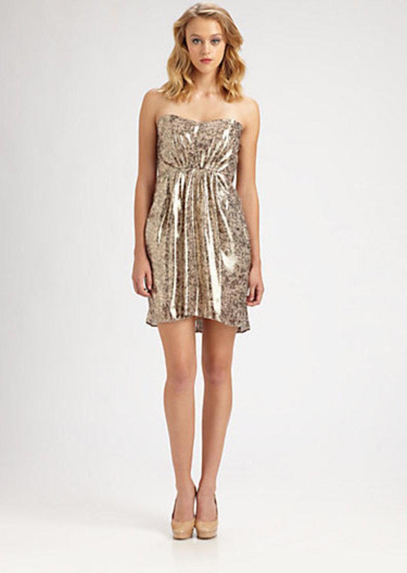 Shoshanna Strapless Printed Dress