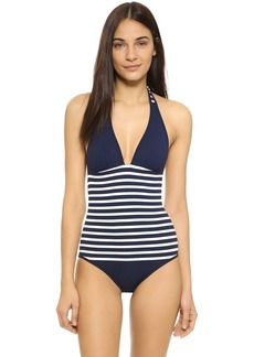 Shoshanna Striped Halter One Piece