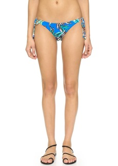 Shoshanna Tropical Palms Ring String Bikini Bottoms