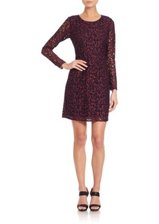 Shoshanna Two-Tone Lace Brooklyn Dress