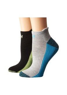 Steve Madden 2-Pack Yoga & Barre Socks with Gripper Sayings