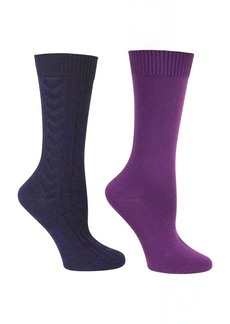 Steve Madden Boot Socks - 2-Pack, Crew (For Women)