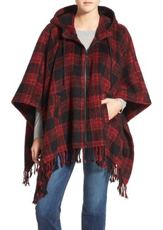 Steve Madden Hooded Poncho Cardigan