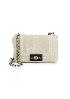 Steve Madden Perforated Flap Chain Crossbody Bag