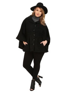 Steve Madden Plus Size Notch Collar Cape Coat
