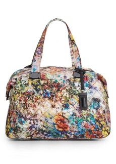 Steve Madden Quilted Floral-Print Duffle Bag