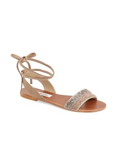 Steve Madden 'Shaney' Beaded Wraparound Lace Sandal (Women)