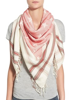 Steve Madden 'Stars and Bars' Fringe Scarf