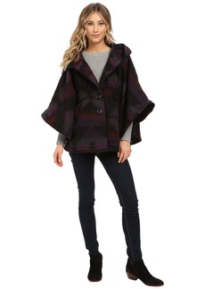 Steve Madden Wool Blend Hooded Cape
