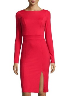 Susana Monaco Bateau-Neck Long-Sleeve Ponte Dress
