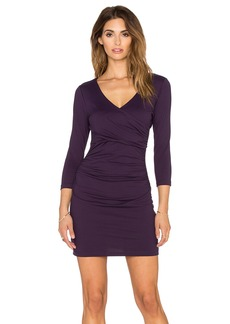 "Susana Monaco Cross Wrap Gather 16"" Dress"