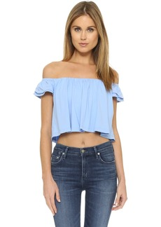 Susana Monaco Drapey Off the Shoulder Top