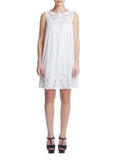 SUSANA MONACO Ellie Lace Trim Shift Dress