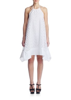 SUSANA MONACO Embroidered Asymmetrical Scoopback Dress