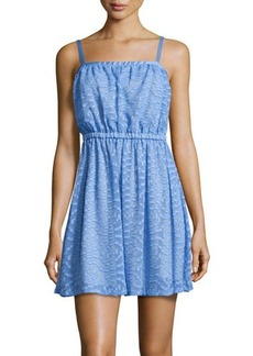 Susana Monaco Jacquard Square-Neck Sleeveless Dress
