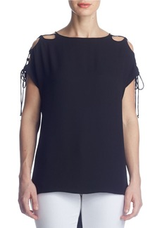 SUSANA MONACO Kloe Cold Shoulder Tie Top