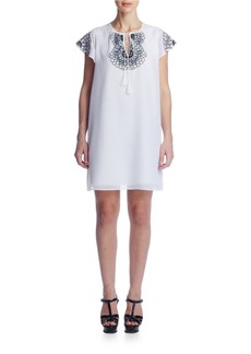 SUSANA MONACO Tess Embroidered Voile Dress
