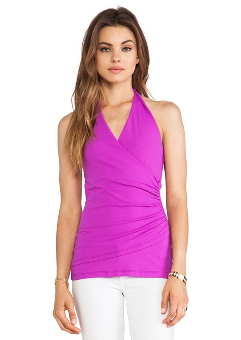 Susana Monaco Wrap Halter Top in Purple