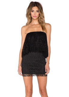 T-Bags LosAngeles Crochet Lace Ruffle Tube Dress