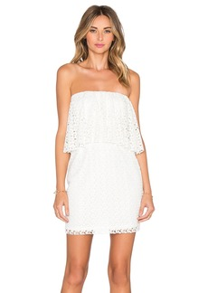 T-Bags LosAngeles Strapless Ruffle Mini Dress