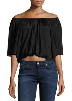 T Bags Off-The-Shoulder Crop Top