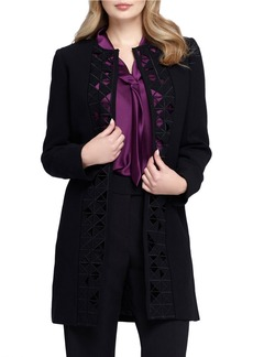 TAHARI ARTHUR S. LEVINE Center Front Cutout Open Topper Jacket